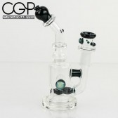 Maestro Glass - Micro Stardust Blue Inline Concentrate Rig 14mm