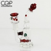 Maestro Glass - Micro Inline Red Elvis Concentrate Rig 18mm