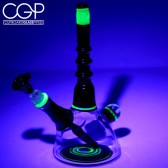 Bry Glass - UV Reactive Illuminati and Candy Apple Red Beaker Water Pipe