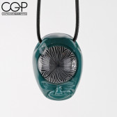 "GPS Glass x BirdDog Art - Collab Pendant - ""Thought Patterns"""