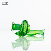 Katie Lancaster - Northern Waters Glass - Green Fumed Faceted Crystal Blunt Lock Tip
