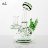 Katie Lancaster - Northern Waters Glass - Crystal Cluster Mini Tube Concentrate Rig 10mm