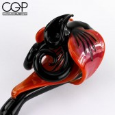 LaceFace Glass - Black and Orange Flower Sherlock
