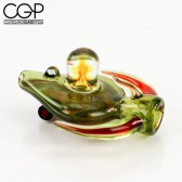 Lay-Z Glass - Fully worked Chillum Pendant with Opal Encasement