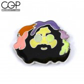 Hat Pin - Multicolored Jerry Garcia Face