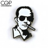 Hat Pin - Portrait of Hunter S. Thompson Smoking with Sunglasses