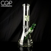 """US Tubes - Beaker 55, 12"""" with Ice Pinch, Green"""
