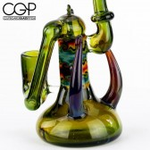 Prism Glass - Wig Wag Linework Concentrate Rig with Bart Millifiori and Moldavite