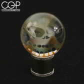 Bob Snodgrass - Medium Fumed Skull Marble Masher