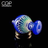 Steve H Glass Bubble Cap in Grateful Blue with Blue Burst