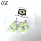 Steve H Glass Green Milli Glass Earrings
