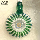 Steve H Glass Green Milli Starburst Pendant