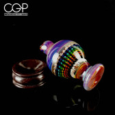 Steve H Glass Spinner Cap with Double Amber Purple