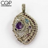 Wire Dreamers - Custom Amethyst Wire Wrap Pendant