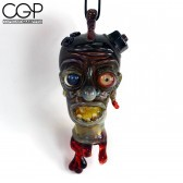Zach Puchowitz - Fully Worked Sculpted Severed Head Pendant-@Ouchkick